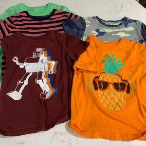 5 size 5 t-shirts